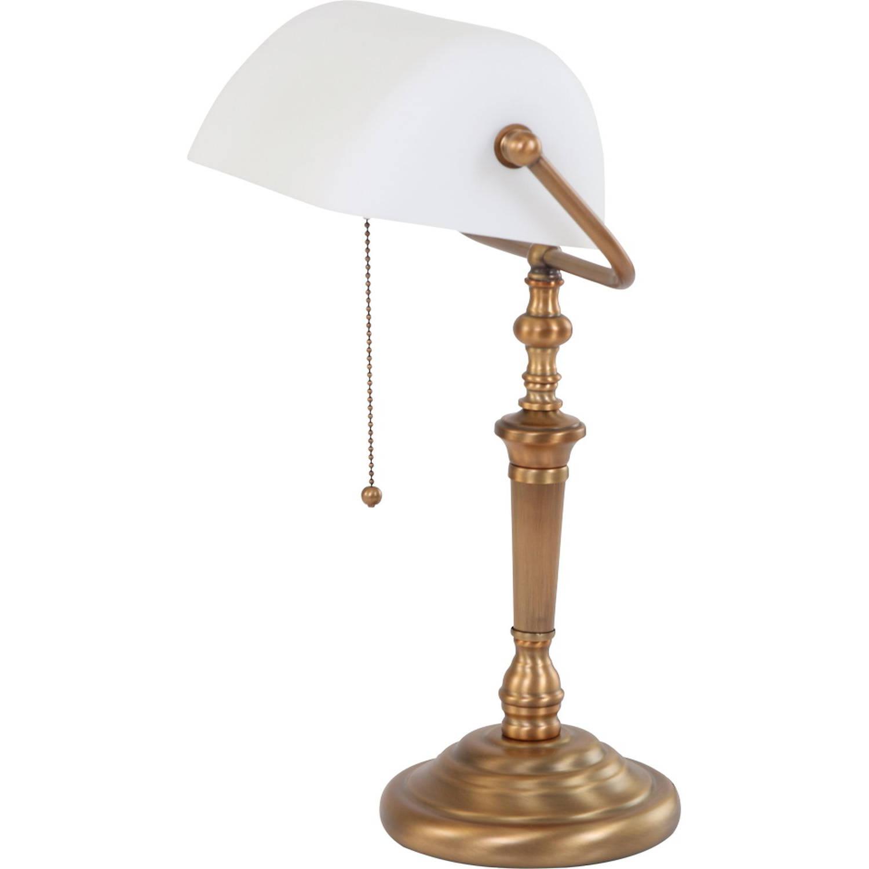 Bijzondere bankiers tafellamp Classical wit