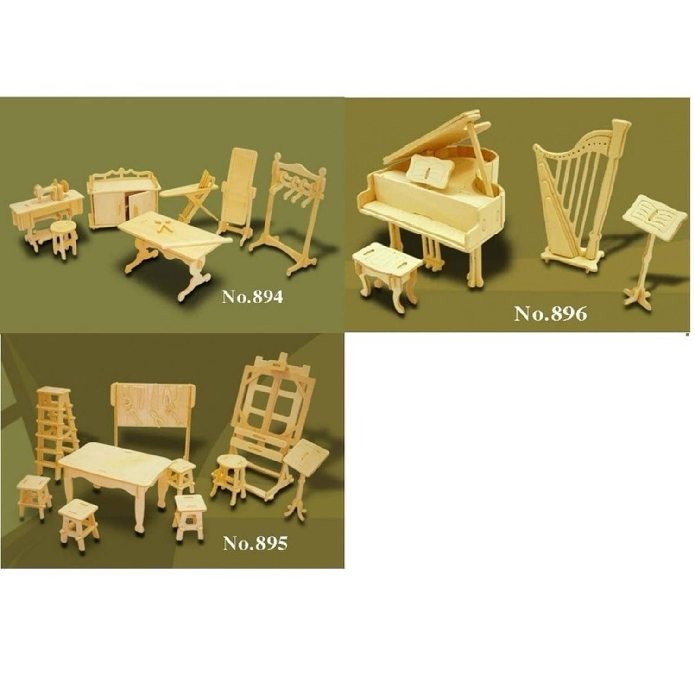Poppenhuis meubels hobby blokker for Meubels poppenhuis