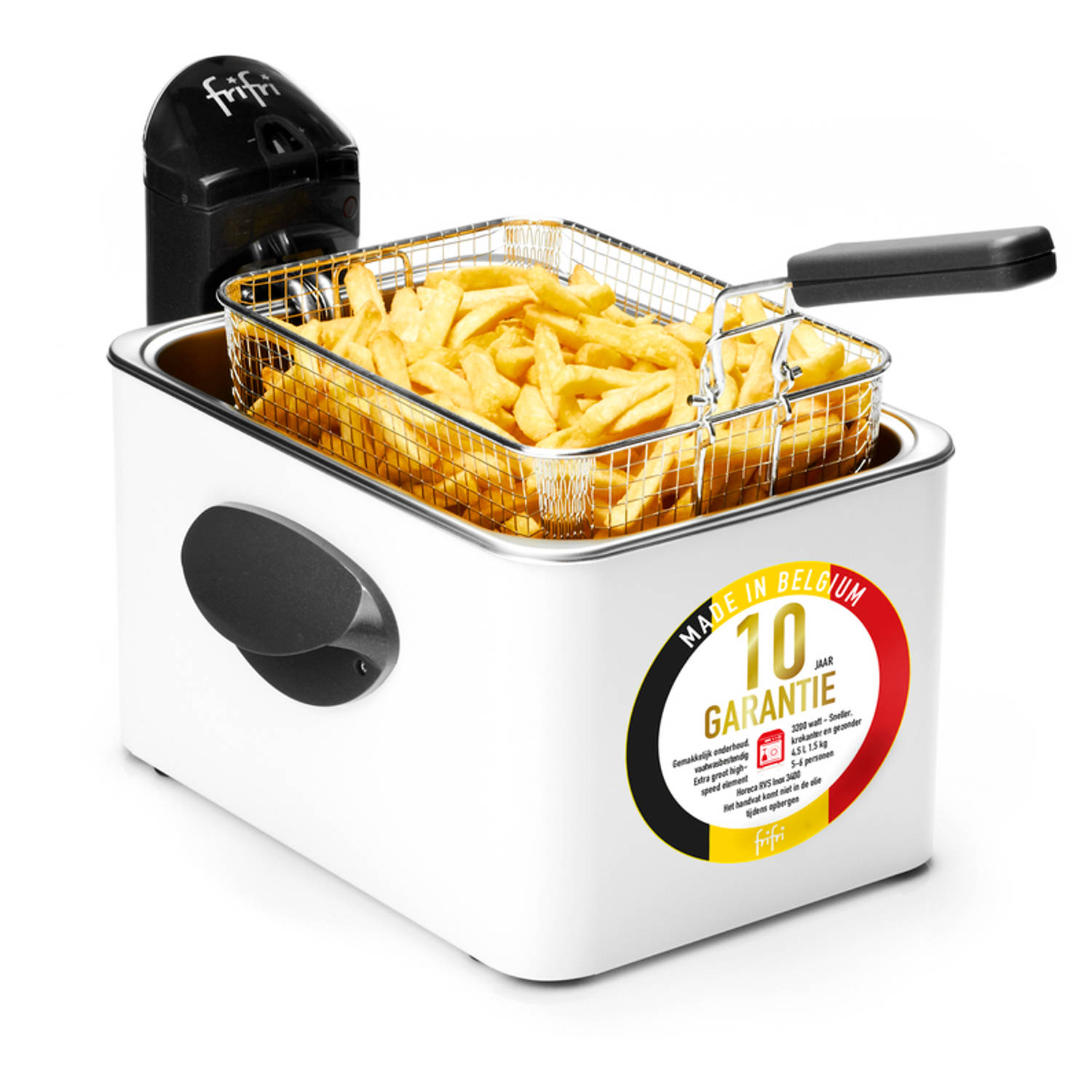 FriFri 1948B - HSCF5050 High speed classic family 3200 Watt koude zone 4,5L friteuse metal wit