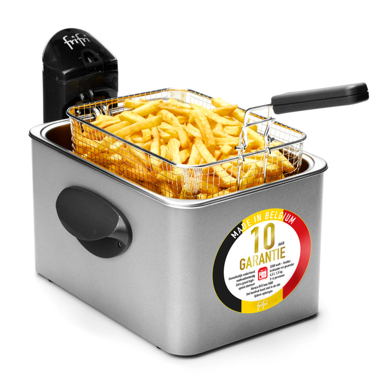 FriFri 4532RVS - HSCF5250 High speed classic family RVS 3200 Watt koude zone 4,5L friteuse