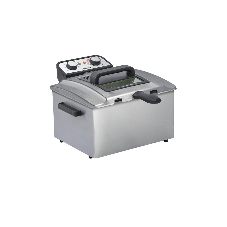 Steba - DF300 Friteuse RVS 5 L, koude zone, 3000 Watt, 3 mandjes