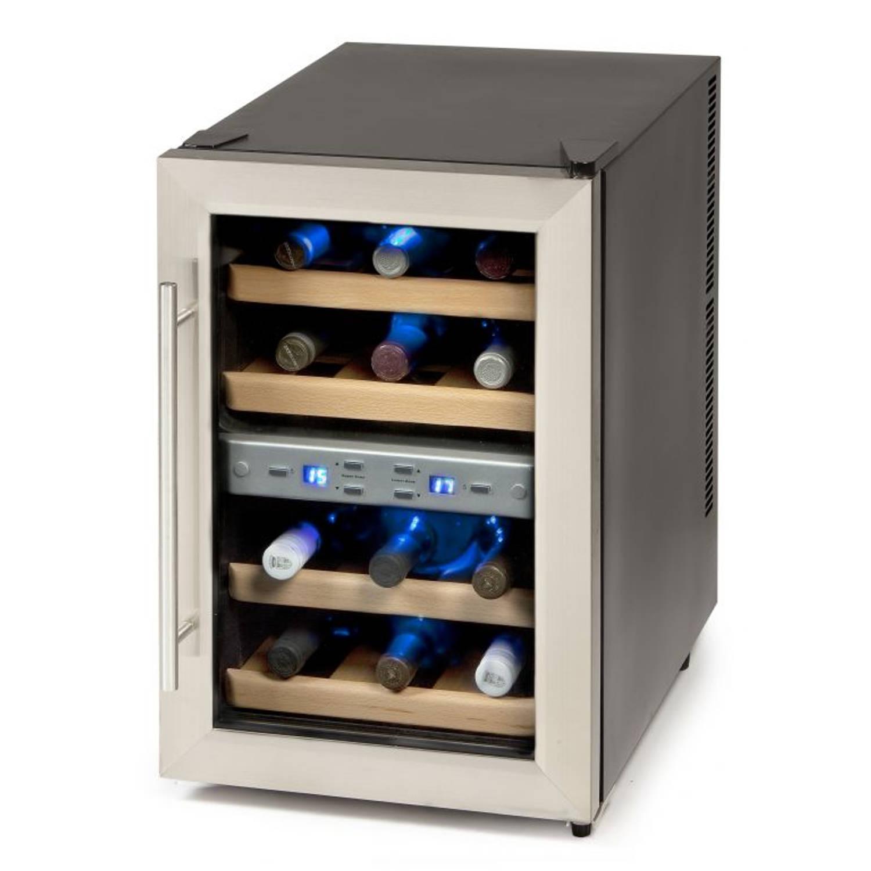 DOMO DO909WK Wijnkoeler 12 flessen, 2 zones Peltier systeem
