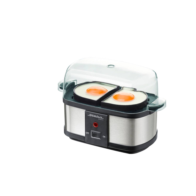 Steba - EK3 Plus RVS eierkoker met stoomfunctie geschikt voor 6 eieren