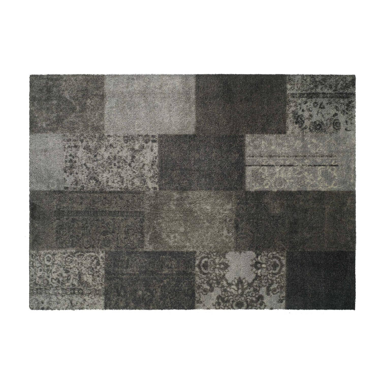 Afbeelding van Schoonloopmat/karpet Soft&Deco patchwork taupe 140 x 200 cm