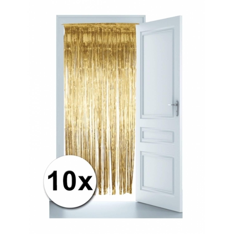Korting Gouden Deur Gordijnen 10x