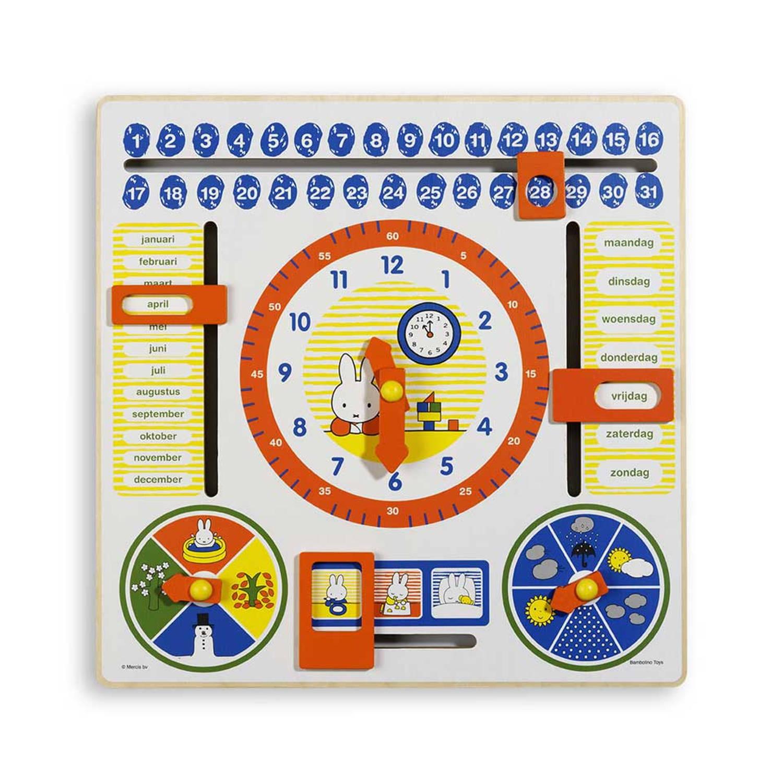 Afbeelding van Nijntje houten kalenderklok