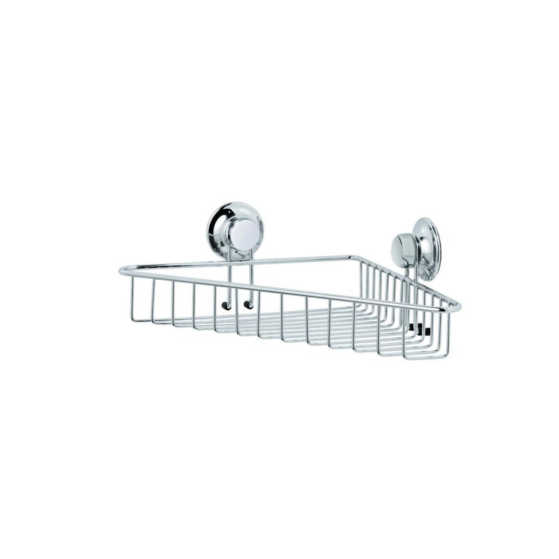 everloc badkamer opbergrek chroom 10 x 24 6 x 26 cm blokker. Black Bedroom Furniture Sets. Home Design Ideas