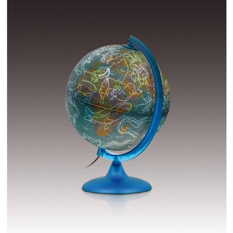 Afbeelding van Globe Night & Day 25cm met kunststof voet en verlichting