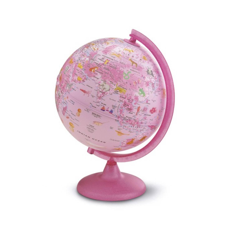 Afbeelding van globe Pink Zoo 25cm nederlandstalig