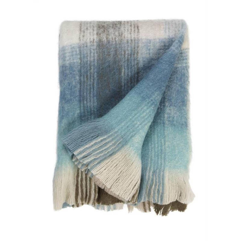 Rivièra Maison Champlain plaid - 85% acryl - 15% polyester - 130x170 cm - Mint Green