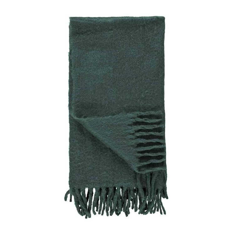 Essenza Kyan plaid - 60% acryl - 20% wol - 20% nylon - 125x180 cm - Groen