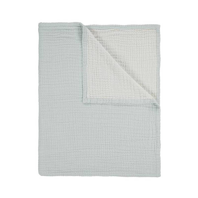Essenza Melsi plaid - 100% katoen - 150x200 cm - Blauw
