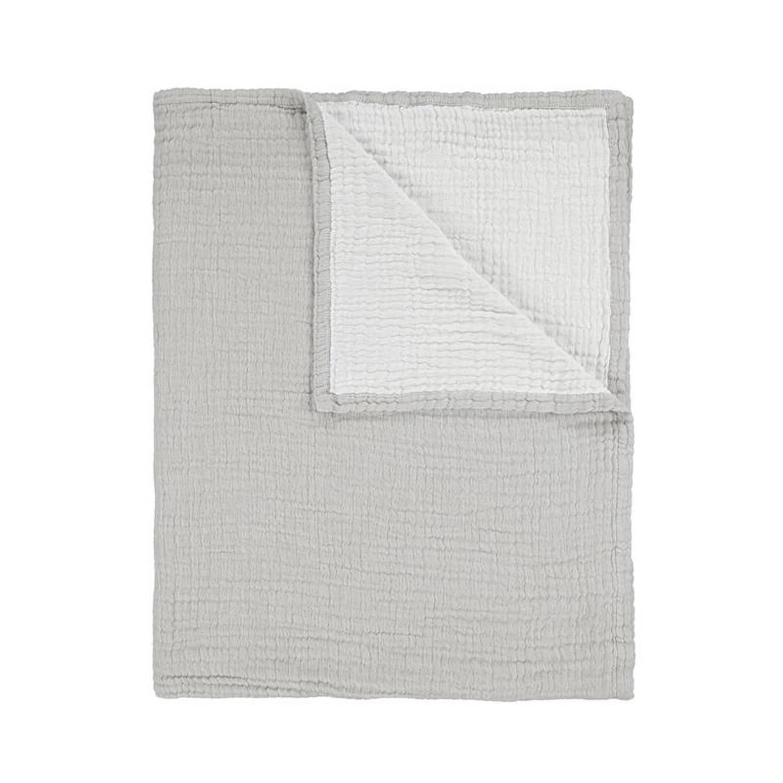 Essenza Melsi plaid - 100% katoen - 150x200 cm - Grijs