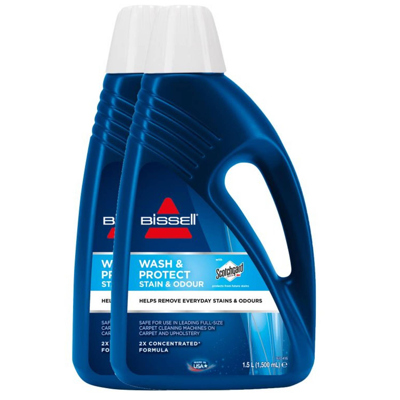 Bissell bundel wash & protect stain & odours - 1.5 ltr (set van 2)