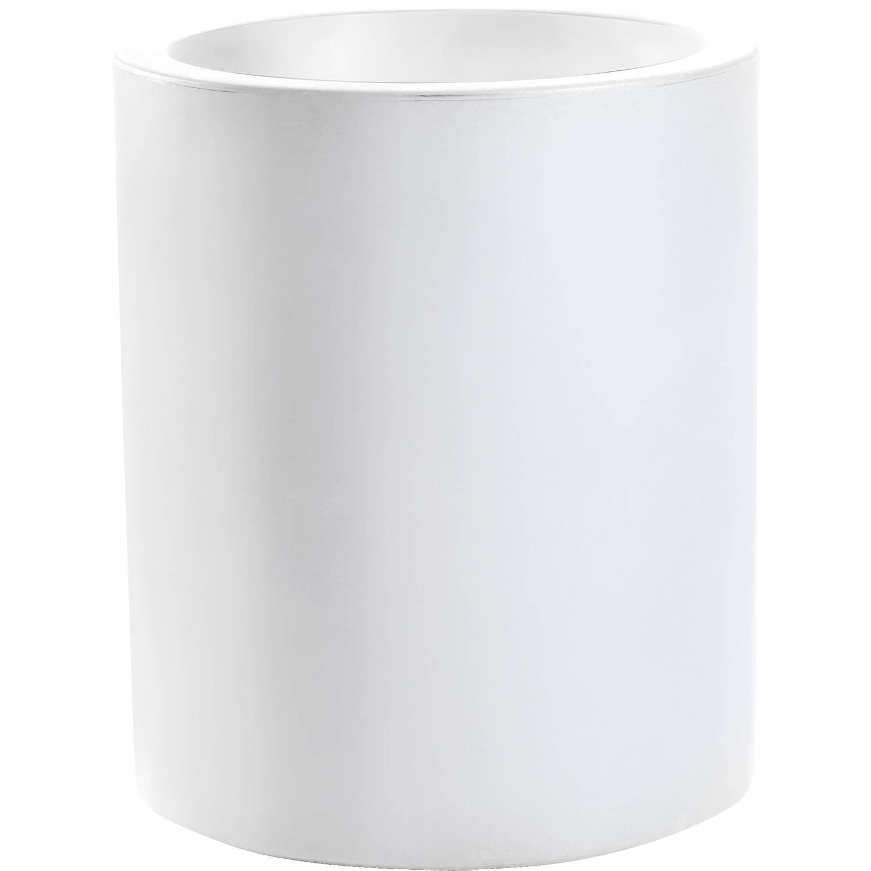 Bloempot rond echo 35cm wit nicoli