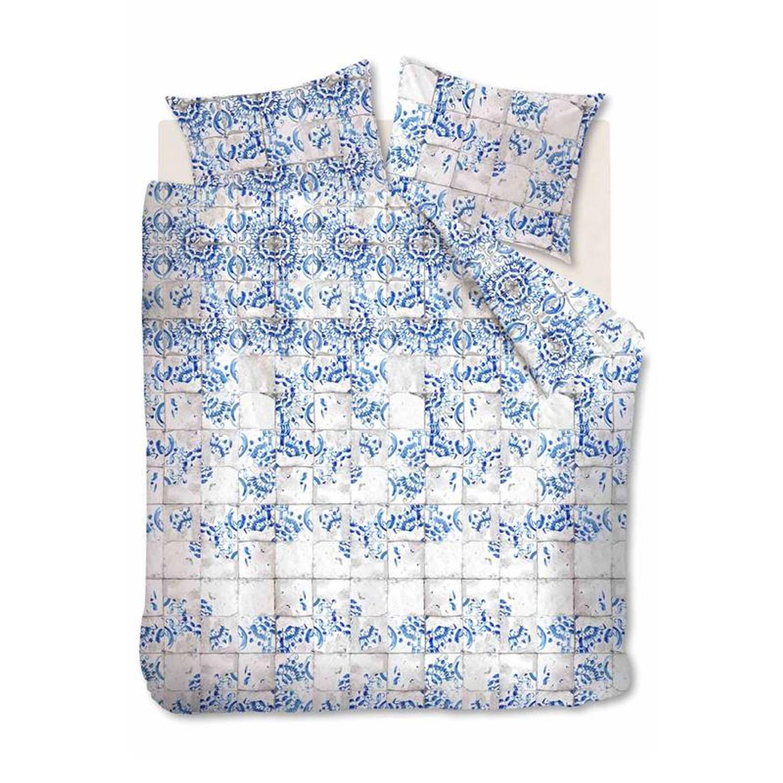 Afbeelding van At Home with Marieke At Home Onetime dekbedovertrek - 100% katoen - Lits-jumeaux (240x200/220 cm + 2 slopen) - Blue