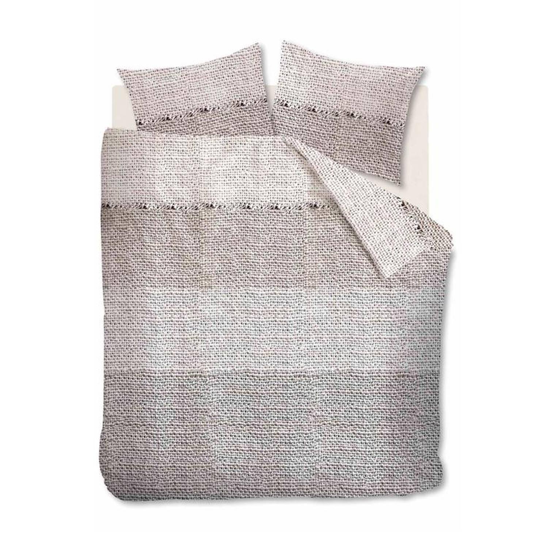 Afbeelding van At Home with Marieke At Home Rough dekbedovertrek - 100% katoen - Lits-jumeaux (240x200/220 cm + 2 slopen) - Natural