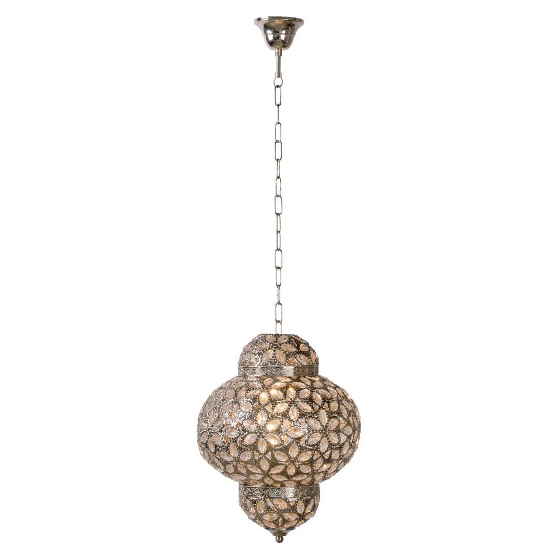 Lucide DJERBA - Hanglamp - Ø 28 cm - Zilver