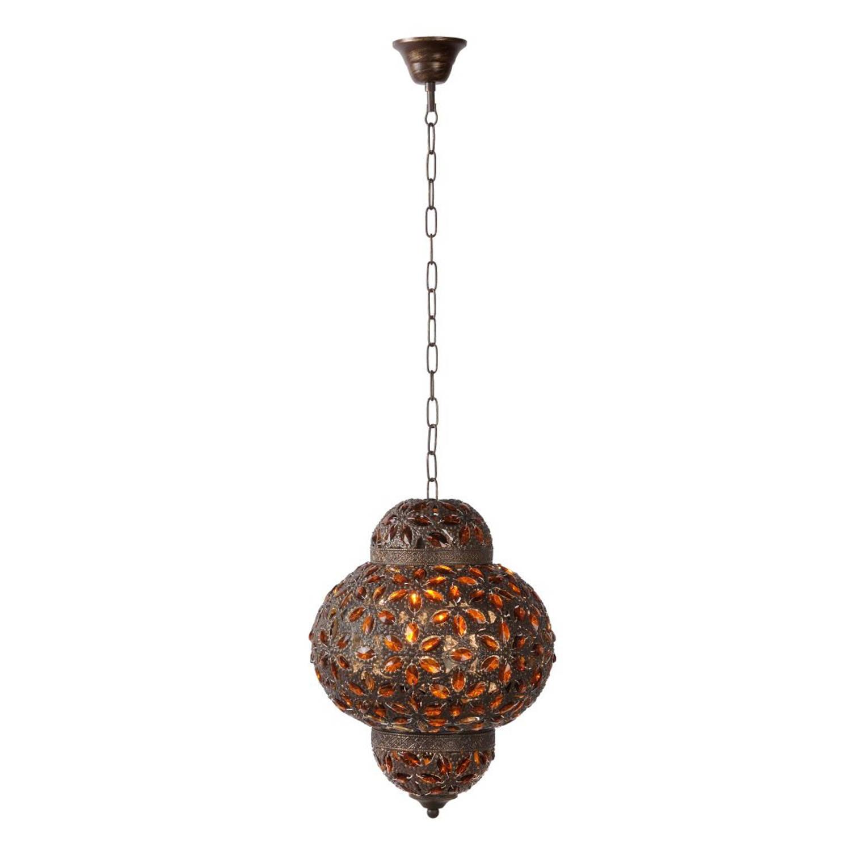 Lucide DJERBA - Hanglamp - Ø 28 cm - Bruin