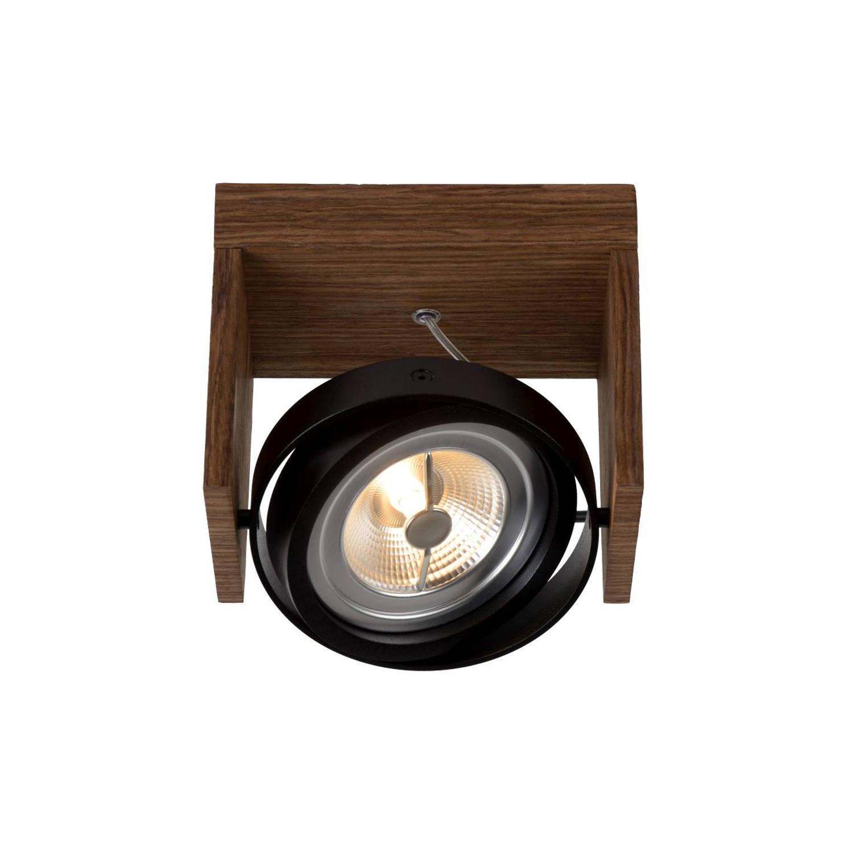Lucide ZETT- LED - Plafondspot - LED Dimb. - 1x12W 2700K - Licht hout