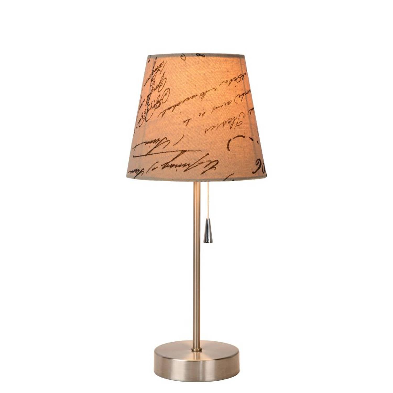 Lucide YOKO - Tafellamp - Ø 18 cm - Mat chroom
