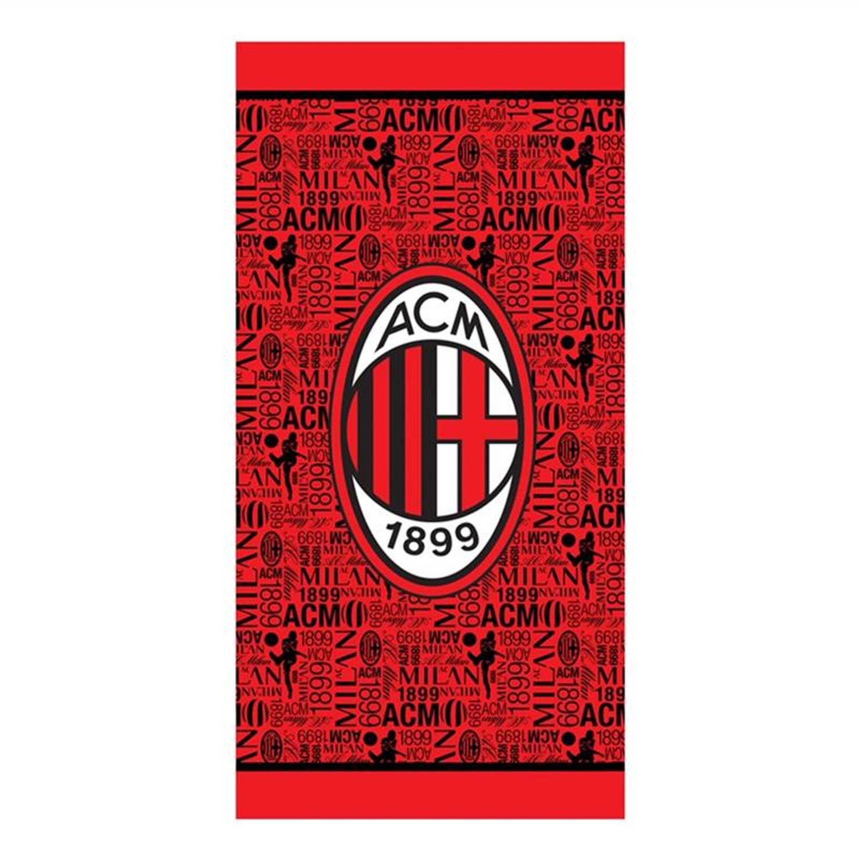 Afbeelding van AC Milan strandlaken - 100% katoen - 70x140 cm - Rood