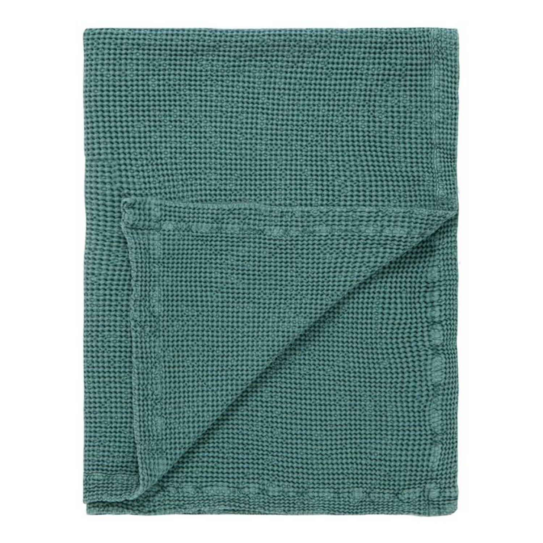 Marc O'Polo Marc O'Polo Viron plaid - 100% katoen - 130x170 cm - Sage green