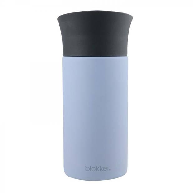 Blokker thermosbeker - 0,3 liter - mat blauw