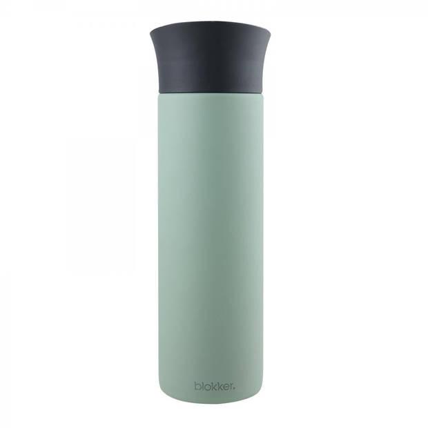 Blokker thermosbeker - 0,5 liter - mat groen