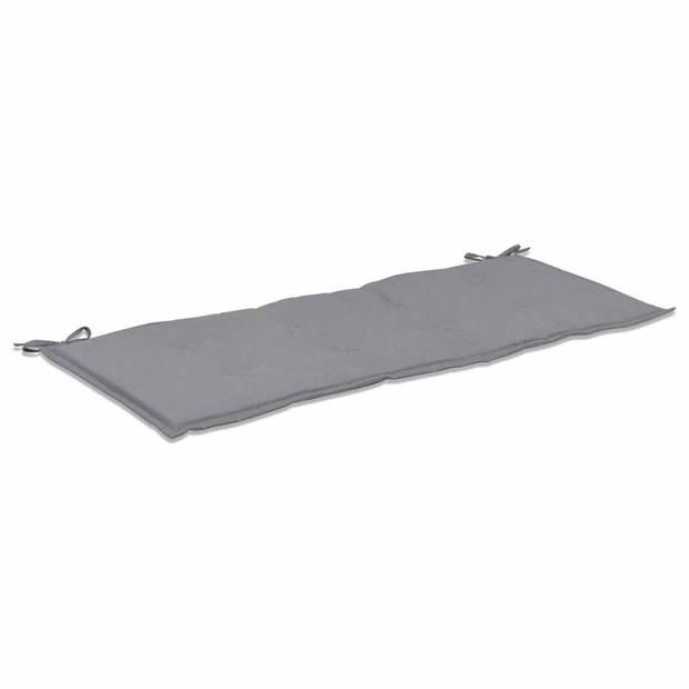vidaXL Tuinbankkussen 120x50x3 cm grijs