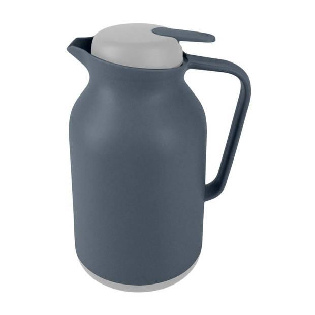 Blokker thermoskan - 1 liter - grijs