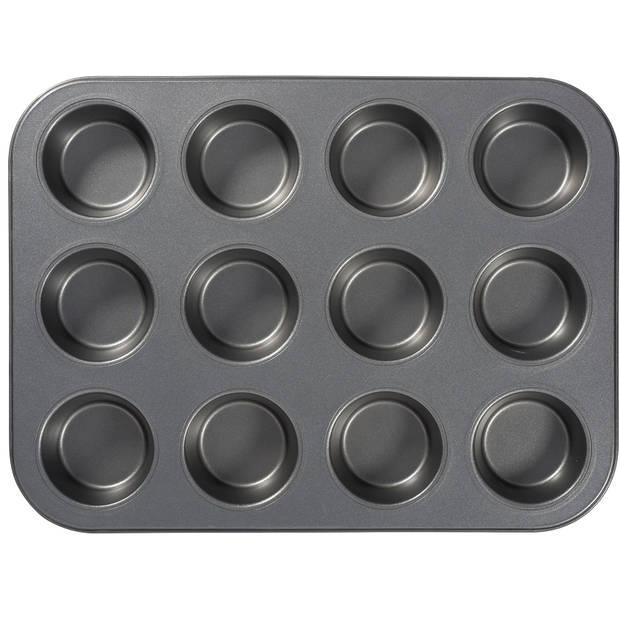 Blokker antiaanbak muffinvorm - 12 stuks