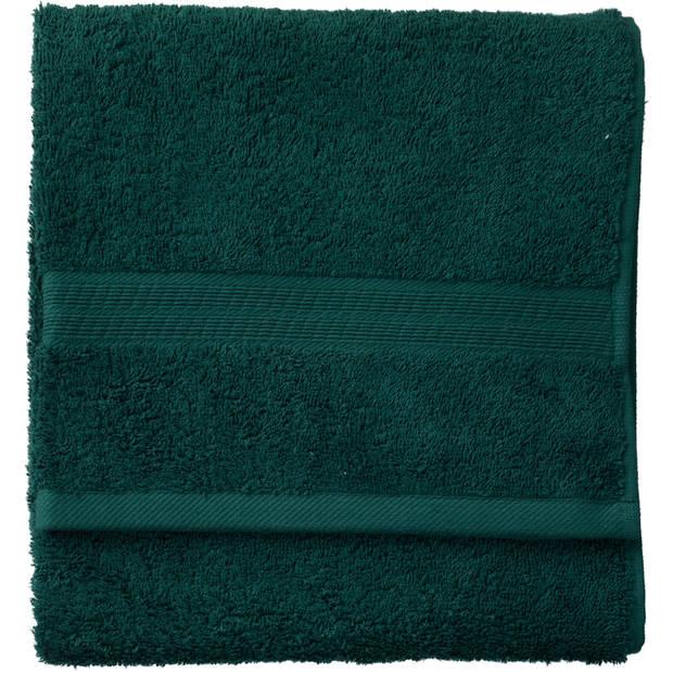 Blokker handdoek 500g - donkergroen - 50x100 cm