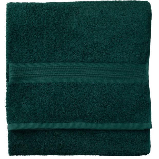 Blokker handdoek 500g - donkergroen - 140x70 cm