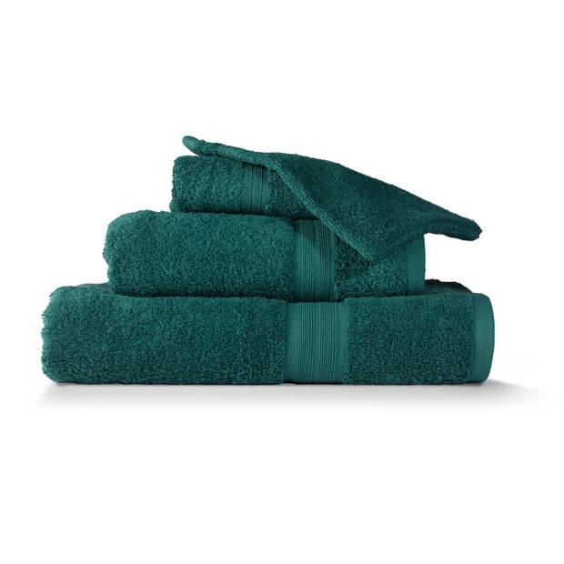 Blokker handdoek 500g - donkergroen - 110x60 cm