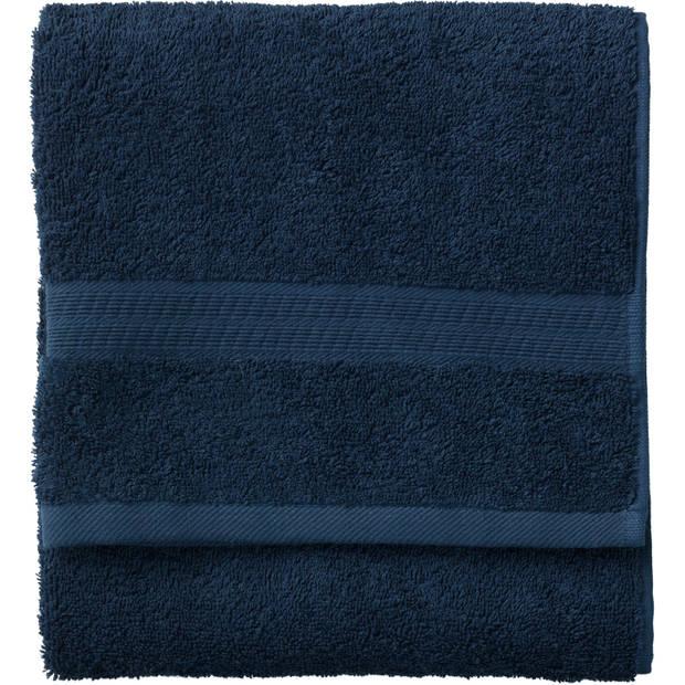 Blokker handdoek 500g - donkerblauw - 50x100 cm