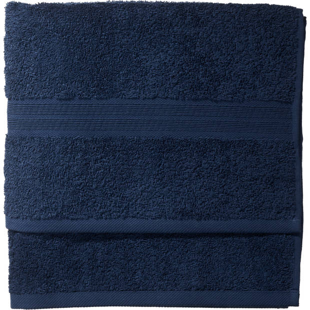 Blokker handdoek 500g - donkerblauw - 110x60 cm
