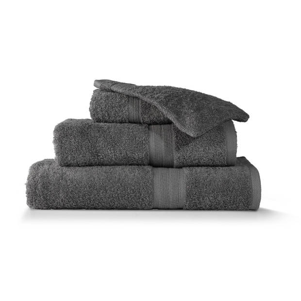 Blokker handdoek 500g - donkergrijs - 140x70 cm