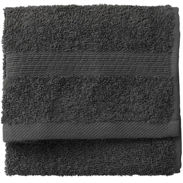 Blokker gastendoek 500g - donkergrijs - katoen - 30x50 cm