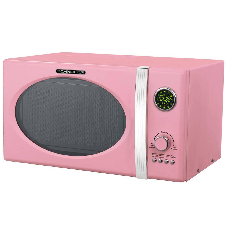Schneider mw 823g sp grill combimagnetron roze