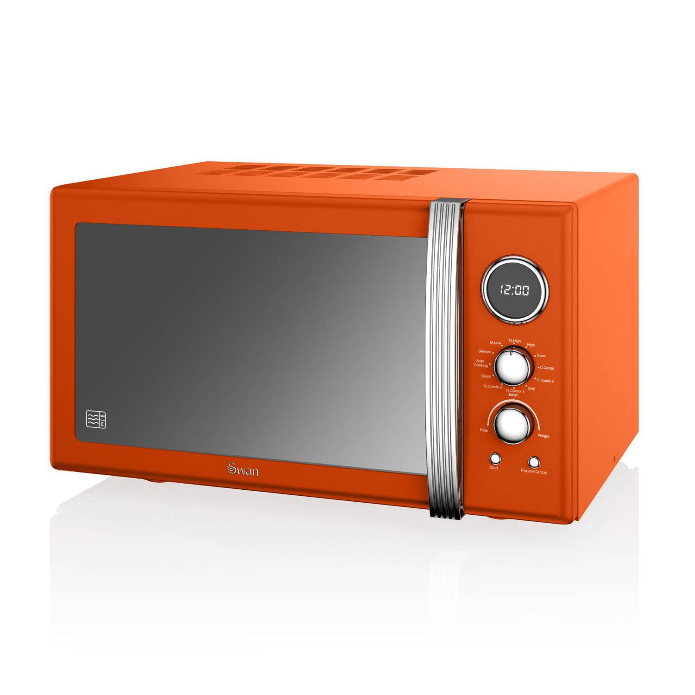 Swan SM22080ON Retro Combimagnetron Oven Grill Oranje