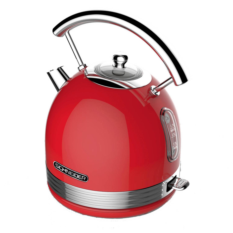 Schneider SL W2 FR Retro Waterkoker Fire Red