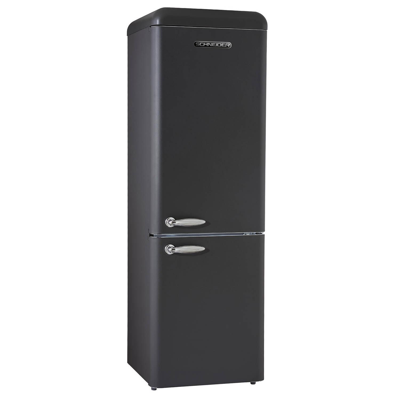 schneider sl 250 b cb a retro koelkast mat zwart blokker. Black Bedroom Furniture Sets. Home Design Ideas