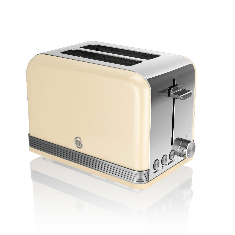 Swan 2-Slot Retro Broodrooster ST19010CN Cream