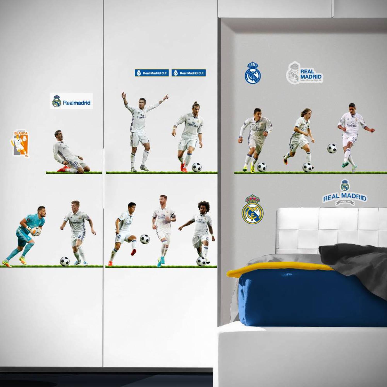 Real Madrid 11 spelers - Muursticker - totaal 60x60cm