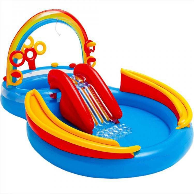 Intex regenboog zwembad speelcentrum 297x193x135 cm -