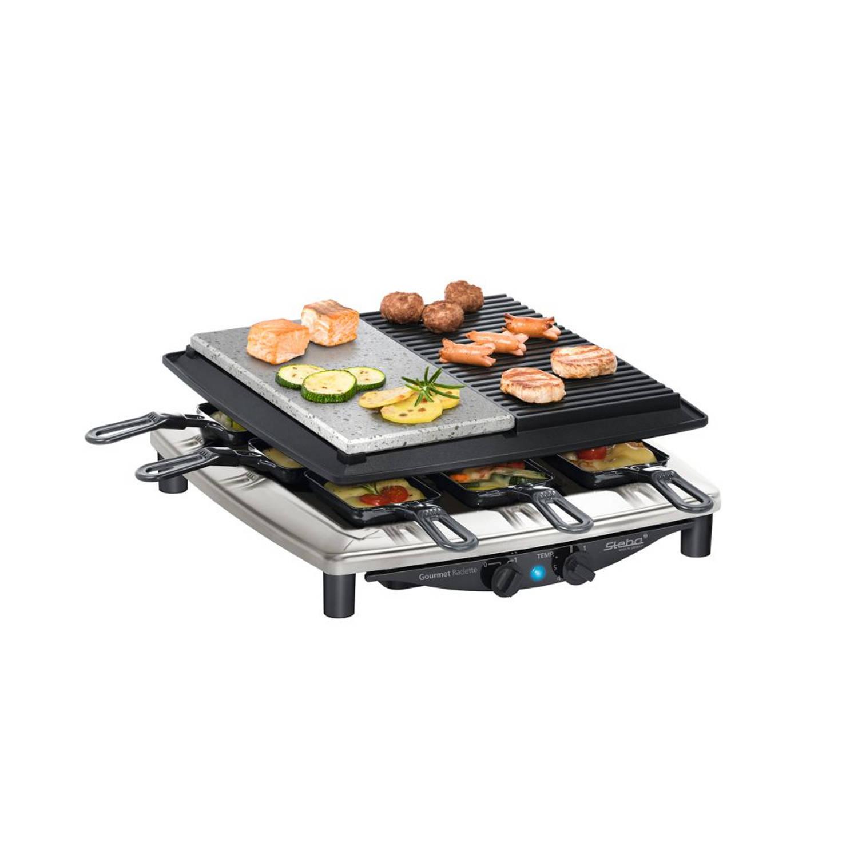 Steba RC4 Plus deluxe RVS Gourmet-Raclette