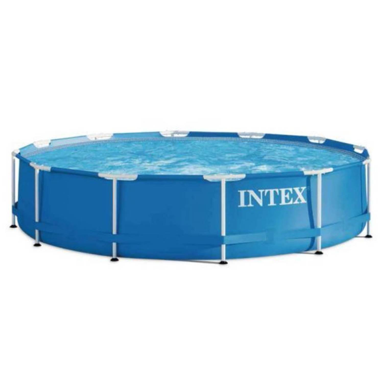 Intex metal frame set zwembad 366cm h 76cm blokker for Blokker zwembad