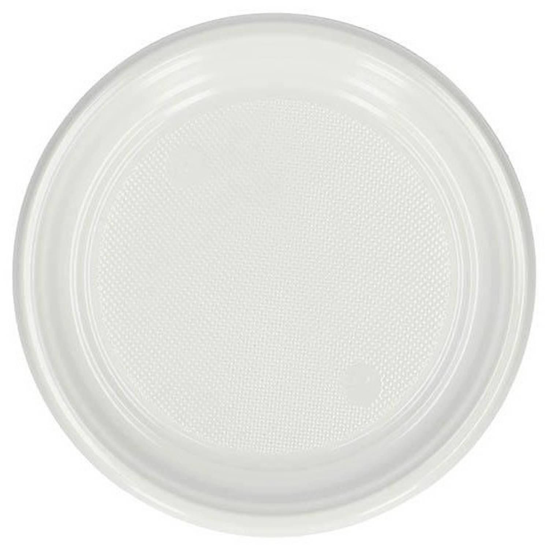 Korting 20 Witte Plastic Dessert Bordjes 17cm