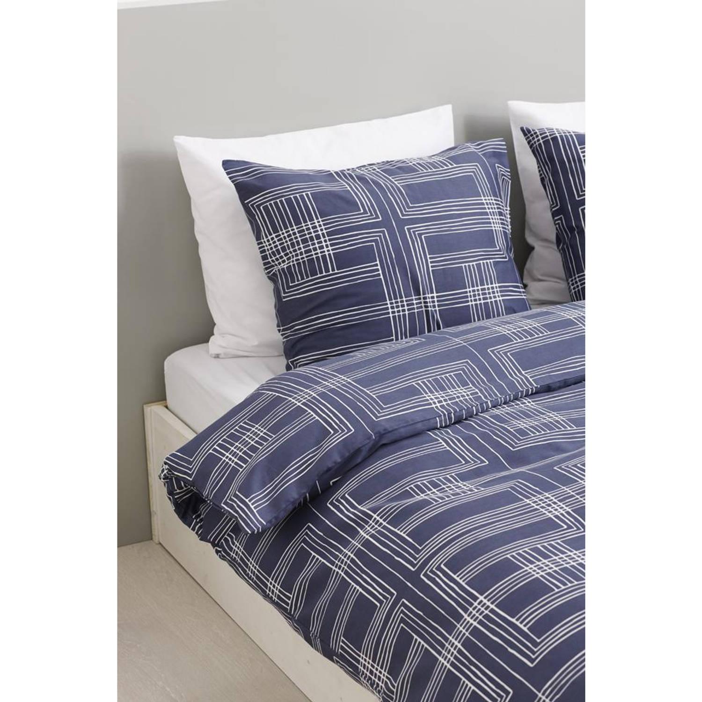 Blokker dekbedovertrek - 240x200/220 cm - blauw